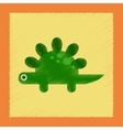 flat shading style icon cartoon dinosaur vector image