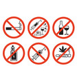 forbidding signs vector image vector image