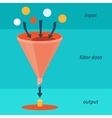 funnel vector image vector image