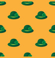 green hat seamless pattern vector image vector image