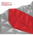 Grey-Red Polygonal vector image