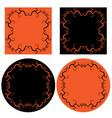 halloween frames vector image vector image