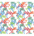 hand arms palms lines semaless pattern vector image