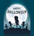 happy halloween scary banner vector image vector image