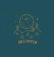 happy halloween template vector image