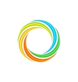 Isolated abstract colorful circular sun logo vector image vector image