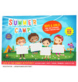 kids summer camp education advertising poster vector image vector image