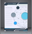 layout brochure with sphere vector image
