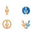 magic trident logo and symbols template vector image