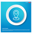 map pin icon abstract blue web sticker button vector image vector image