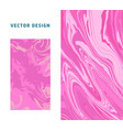 marble ebru abstract backgrounds set magenta vector image