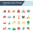 massage and spa therapy icons flat design for vector image