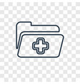 medical record concept linear icon isolated on vector image
