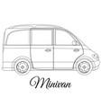 minivan car body type outline vector image vector image