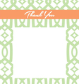 Mint and Peach Thank You card vector image vector image