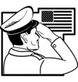 Patriotic USA Service man vector image vector image