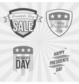 Presidents Day Labels Set on striped Background vector image vector image