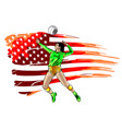 professional volleyball players in action on the vector image vector image