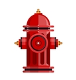Red fire hydrant icon isolated on white vector image