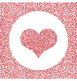 red heart made of little hearts vector image vector image