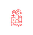 red personal items like lifestyle isolated on vector image vector image