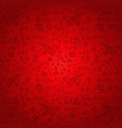 red russia background pattern with icons vector image
