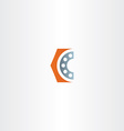 roller bearing letter c logo icon vector image vector image