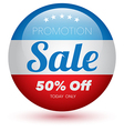 Sale red text design vector image vector image