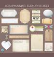 scrapbooking elements set 2 vector image