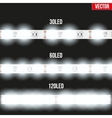 Set of typical LED tapes vector image vector image