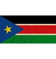 South Sudan paper flag vector image