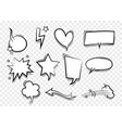 speech bubble for comic text isolated background vector image vector image
