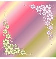 Striped Greeting Card with Flowers vector image