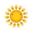 Sun over white - vector image