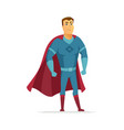 superhero - modern cartoon people character vector image