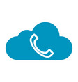 thin line cloud phone icon vector image vector image