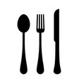 three templates of cutlery vector image vector image