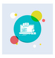 training course online computer chat white glyph vector image vector image
