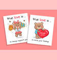 true love is to show feelings always support set vector image vector image