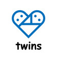 Twins icon on white background