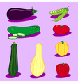 vegetable icons 3 vector image vector image
