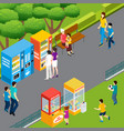 vending machines isometric vector image vector image