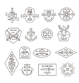 Vintage outline emblem and label design vector image