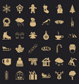 winter clothes icons set simple style vector image vector image