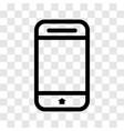 mobile icon - iconic design vector image