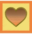 flat shading style icon rainbow heart vector image