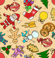 Seamless pattern with symbols of Christmas and New vector image