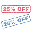 25 percent off textile stamps vector image