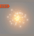 abstract golden sparkler effect with white sparks vector image vector image