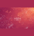 abstract pink red polygonal surface background vector image